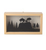 Art Ka Keeda Black Pine Wood Wally Rectangle Silhouette Framed Wall Art