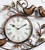 Art of Jodhpur Brown Metal  Wall Clock