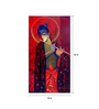 Art Zolo Canvas 18 x 36 Inch Krishna with Flute Red Unframed Artwork Painting