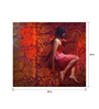 Art Zolo Canvas 30 x 34 Inch Girl in Red Unframed Artwork Painting