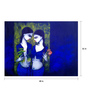 Art Zolo Canvas 48 x 36 Inch Girls in Blue Unframed Artwork Painting