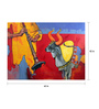 Art Zolo Gold Foil on Canvas 60 x 42 Inch Samvad 2/7 Unframed Artwork Painting