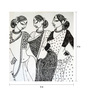 Art Zolo Paper 5 x 5 Inch Three Women Unframed Artwork Painting