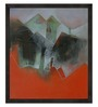 ArtCollective Abstract Canvas 12 x 12 Inch Framed Art Print