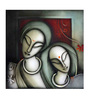 Artflute Canvas 24 x 1 x 24 Inch Love Framed Limited Edition Digital Art Print