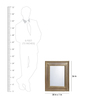 Artisans Rose Gold Solidwood Colonial Classic Square Framed Mirror