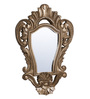 Artisans Rose Gold Solidwood English Vintage-Style Sinuous Framed Mirror