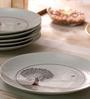 Arttdinox Kalptaru White Porcelain Quarter Plate - Set of 6