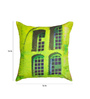 ARTychoke Green Silk 16 x 16 Inch Window Cushion Cover