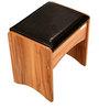 Aryan Dressing Table with Stool in Light Walnut Finish by Godrej Interio