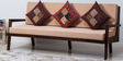 Kennewick Three Seater Sofa in Provincial Teak Finish by Woodsworth