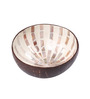 Asian Artisans Vietnamese White Shell Bamboo and Lacquer Bowl
