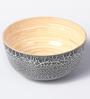 Asian Artisans Black Bamboo & Lacquer Coating Bowl - Set of 3