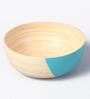 Asian Artisans Blue Bamboo Salad Bowl