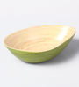 Asian Artisans Green Bamboo Oval Shaped Bowl - Set of 3