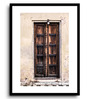 Asian Artisans MDF & Paper 16 x 2.5 x 22 Inch Vertical Door 2 Framed Digital Art Print