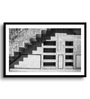 Asian Artisans MDF & Paper 22 x 2.5 x 16 Inch Black & White Steps Framed Digital Art Print