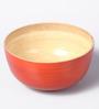 Asian Artisans Orange Bamboo Bowl - Set of 3