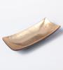 Asian Artisans Vietnamese Golden Wood & Lacquer Coating Long Rectangle Bowl - Set of 2