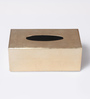 Asian Artisans Vietnamese Golden Wood with Lacquer Coating Tissue Box