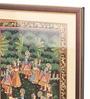Asian Artisans Wood & Cloth 12.5 x 16.25 Inch Radha Krishna Raas Leela Framed Painting