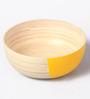 Asian Artisans Yellow Bamboo Salad Bowl