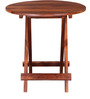 Fife Chair and Table Set in Provincial Teak Finish by Woodsworth