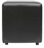 Aspen Faux Leather Pouffe in Black by Columbus First Furniture