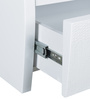 Aspen New High Gloss Bedside Table in White Colour by HomeTown