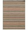 Asterlane Golden Woolen 96 x 60 Inch Stripes Rectangular Area Rug