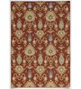 Asterlane Red & Orange Woolen 96 x 60 Inch Abstract Rectangular Area Rug