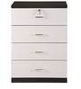 Aston Cabinet with Four Drawers in White Colour by @Home
