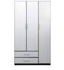 Aston Three Door Wardrobe in White Colour by @Home