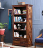 Volga Book Shelf in Provincial Teak Finish by Woodsworth