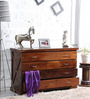 Volga Chest of Four Drawers in Provincial Teak Finish by Woodsworth
