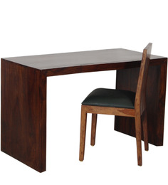 Athena Study Table & Chair in Provincial Teak with Melamine Finish by Woodsworth