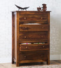 Maritsa Chest with five Drawers in Provincial Teak Finish by Woodsworth
