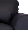Atlanta One Seater Sofa in Jet Black Colour by Durian