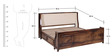 Cleland Macke King Bed with storage in Provincial Teak Finish by Amberville