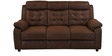 Augusta Three Seater Sofa cum Bed in Chocolate Colour by @home
