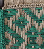 Avapana Stool with Jute Weaving in Green Colour by Mudramark