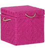 Avapana Trunk with Weaving Work in Pink Color by Mudramark