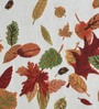 Avira Home Autumn Leaves Multicolour Cotton And Polyester Table Mat - Set Of 2
