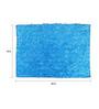 Avira Home Blue Micro Chenille 18 x 24 Inch Super Soft Marl Door Mat