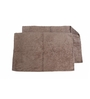 Avira Home Brown 100% Cotton 19 x 31 Bath Mat - Set of 2