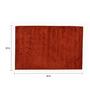 Avira Home Dark Orange 100% Cotton 22 x 33 Inch Ribbed Door Mat