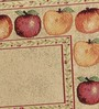 Avira Home Fruit Border Multicolour Cotton And Polyester Table Mat - Set Of 2