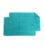 Avira Home Light Blue 100% Cotton 19 x 31 Bath Mat - Set of 2