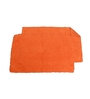 Avira Home Orange 100% Cotton 19 x 31 Bath Mat - Set of 2