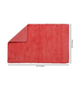 Avira Home Peach 100% Cotton Bath and Toilet Mat  - Set of 2